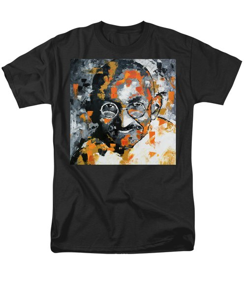 Men's T-Shirt  (Regular Fit) featuring the painting Mahatma Gandhi by Richard Day