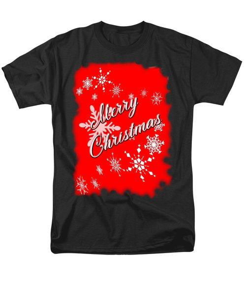 Merry Christmas Men's T-Shirt  (Regular Fit) by Judy Hall-Folde