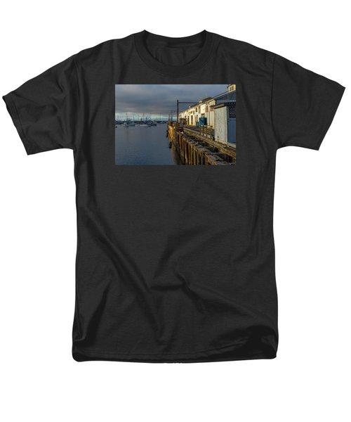 Monterey Commercial Wharf Men's T-Shirt  (Regular Fit) by Derek Dean