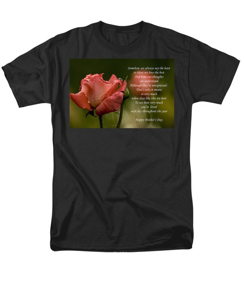 Men's T-Shirt  (Regular Fit) featuring the photograph Mother's Day Card 5 by Michael Cummings