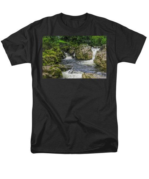 Mountain Waterfall Men's T-Shirt  (Regular Fit) by Ian Mitchell
