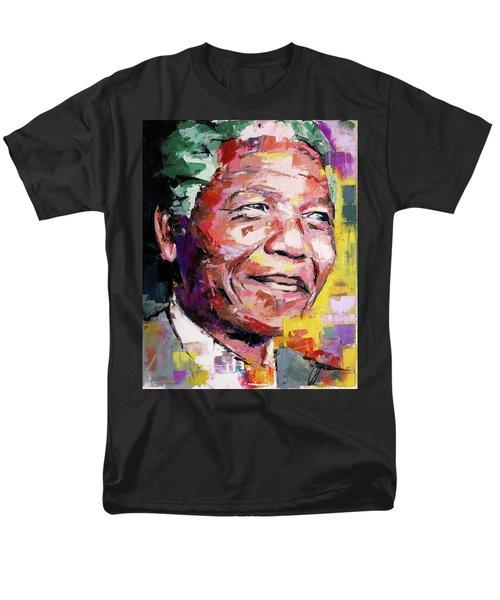 Nelson Mandela Men's T-Shirt  (Regular Fit) by Richard Day