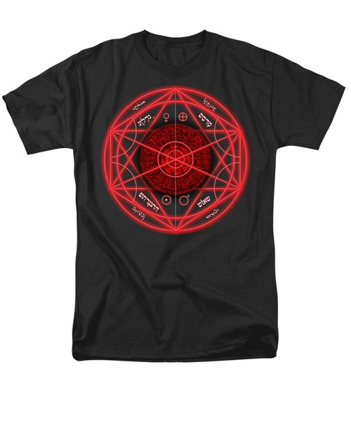 Occult Magick Symbol On Red By Pierre Blanchard Men's T-Shirt  (Regular Fit)