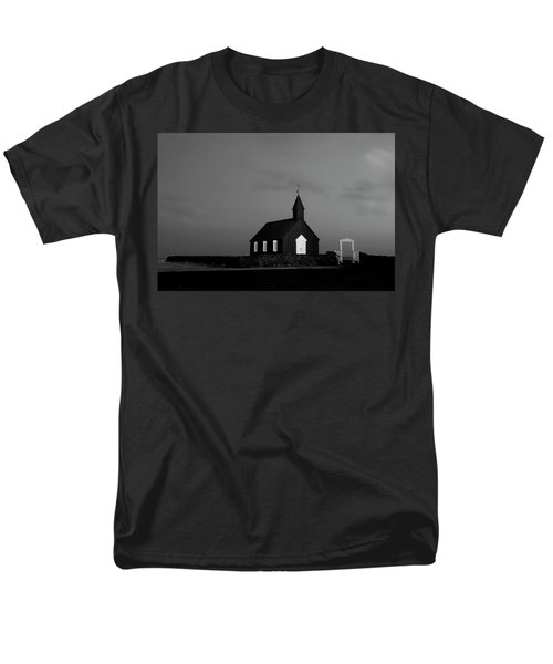 Old Countryside Church In Iceland Men's T-Shirt  (Regular Fit) by Joe Belanger