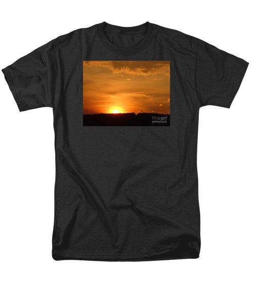 Men's T-Shirt  (Regular Fit) featuring the photograph Orange Sunset  II by Christina Verdgeline