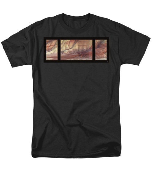Men's T-Shirt  (Regular Fit) featuring the photograph Painted Hills Triptych by Leland D Howard