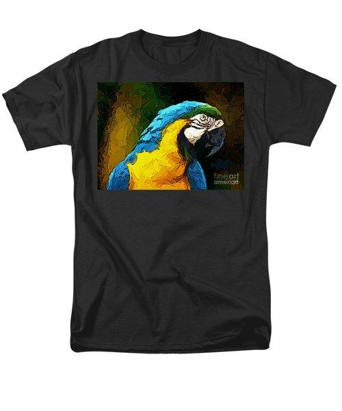 Pappagallo - Parrot Ara Ararauna Men's T-Shirt  (Regular Fit) by Zedi