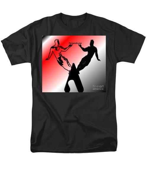 Perpendicular Men's T-Shirt  (Regular Fit) by Belinda Threeths