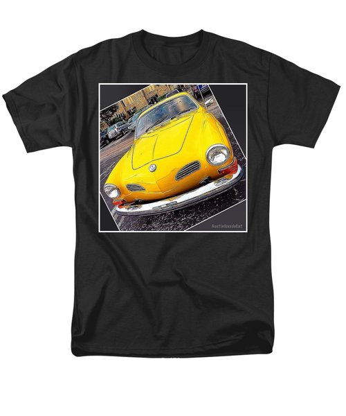 Photoshopping The #yellow #karminnghia Men's T-Shirt  (Regular Fit) by Austin Tuxedo Cat