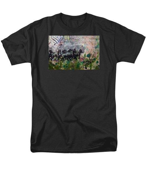 Ponies Men's T-Shirt  (Regular Fit) by Ron Richard Baviello