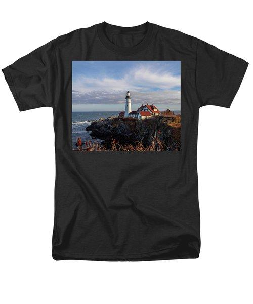 Men's T-Shirt  (Regular Fit) featuring the photograph Portland Head Light by Trace Kittrell