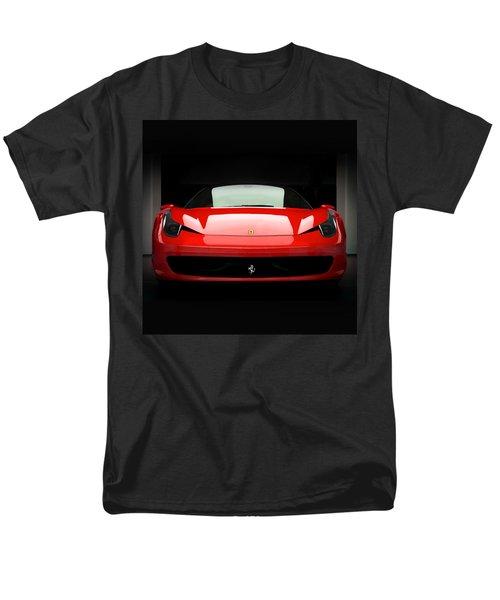 Red Ferrari 458 Men's T-Shirt  (Regular Fit) by Matt Malloy