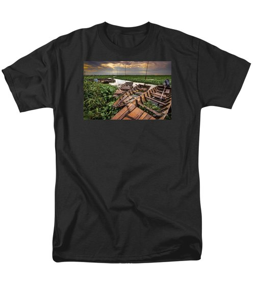Men's T-Shirt  (Regular Fit) featuring the photograph Rest Of Boat by Arik S Mintorogo