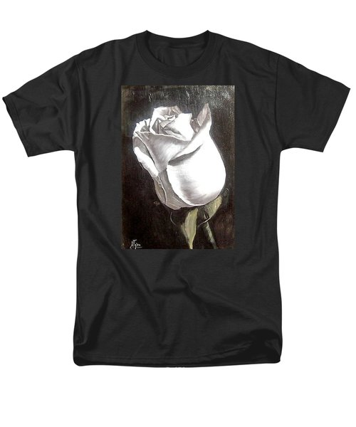 Men's T-Shirt  (Regular Fit) featuring the painting Rose 2 by Natalia Tejera