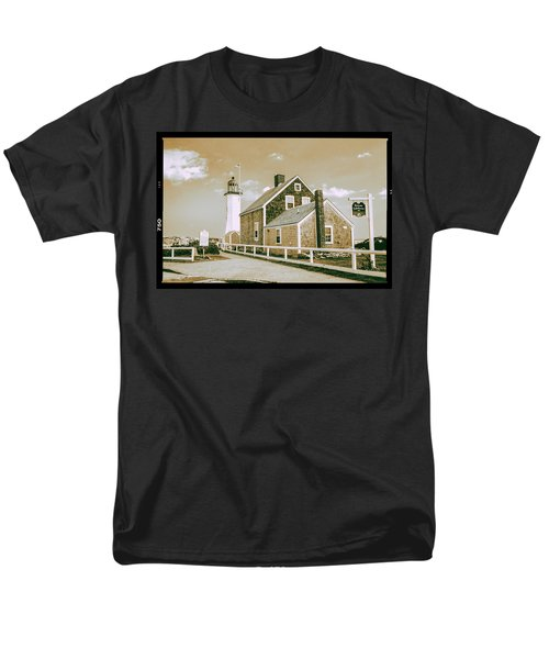 Men's T-Shirt  (Regular Fit) featuring the photograph Scituate Lighthouse In Scituate, Ma by Peter Ciro