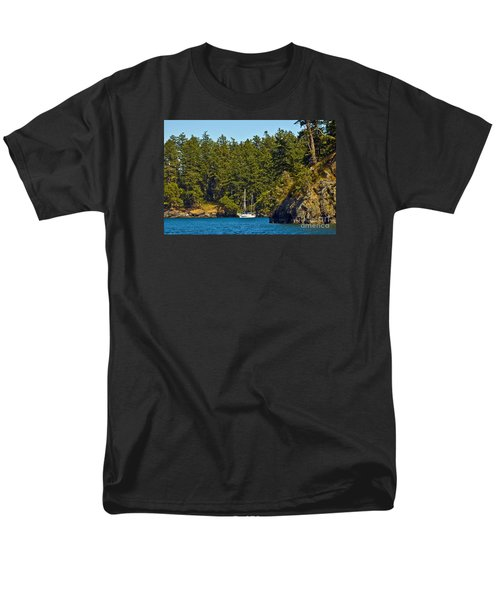 Secluded Anchorage Men's T-Shirt  (Regular Fit) by Chuck Flewelling