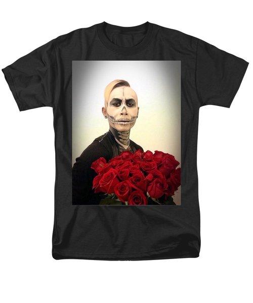 Skull Tux And Roses Men's T-Shirt  (Regular Fit) by Kent Chua