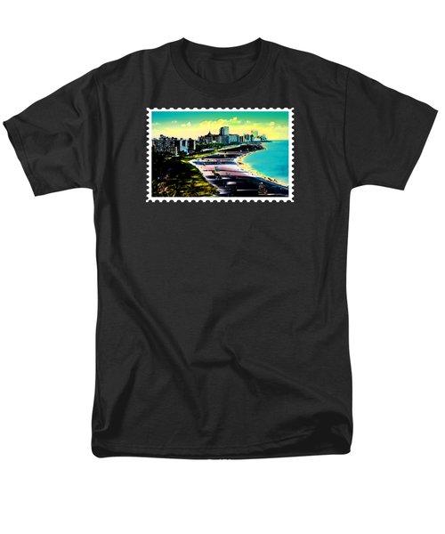 Surreal Colors Of Miami Beach Florida Men's T-Shirt  (Regular Fit) by Elaine Plesser