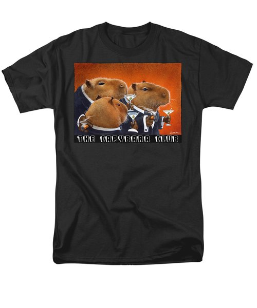 The Capybara Club Men's T-Shirt  (Regular Fit) by Will Bullas