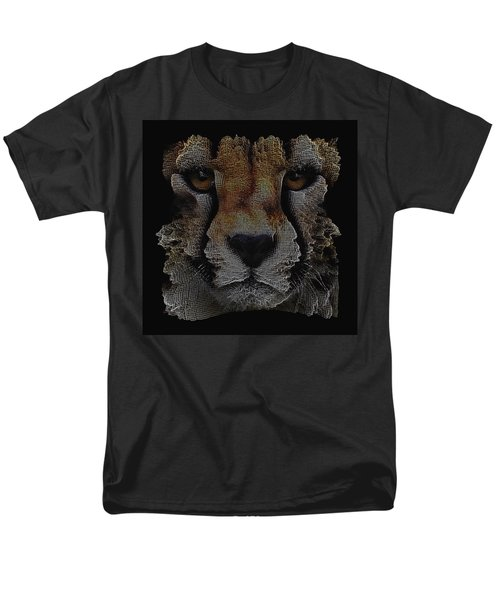 The Face Of A Cheetah Men's T-Shirt  (Regular Fit) by ISAW Gallery