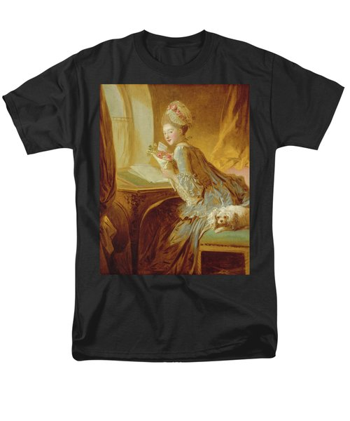 Men's T-Shirt  (Regular Fit) featuring the painting The Love Letter by Jean Honore Fragonard