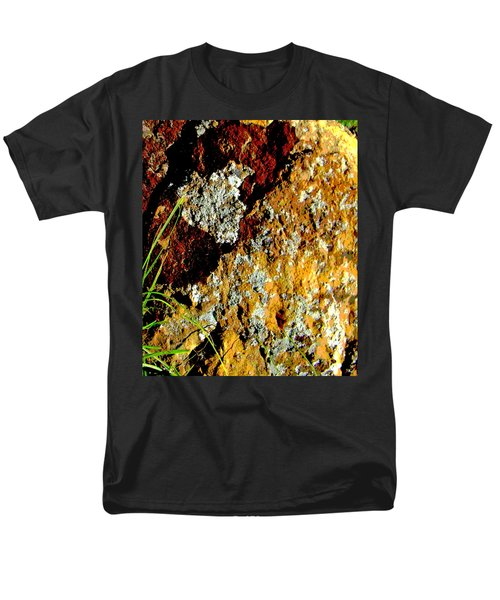 Men's T-Shirt  (Regular Fit) featuring the photograph The Rock by Lenore Senior