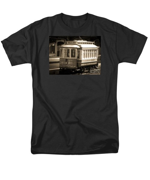 Men's T-Shirt  (Regular Fit) featuring the photograph Vintage Train Trolley by Melissa Messick