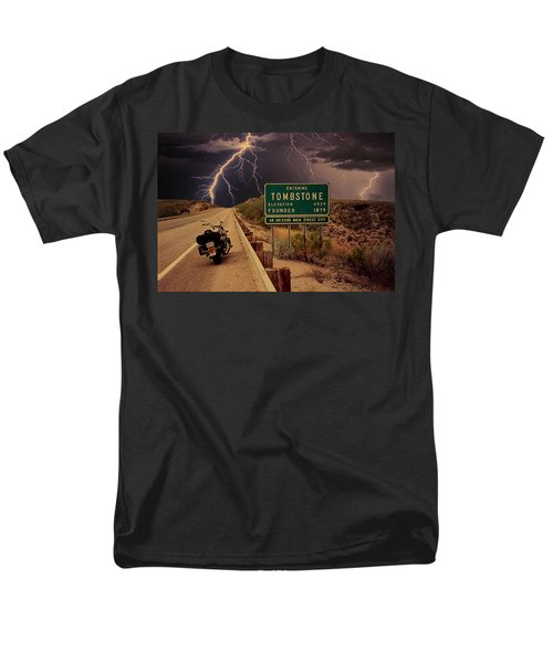 Trouble In Tombstone Men's T-Shirt  (Regular Fit) by Gary Baird