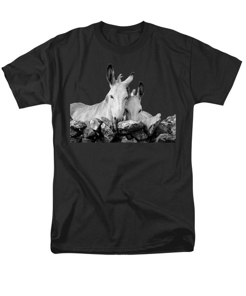 Two White Irish Donkeys Men's T-Shirt  (Regular Fit) by RicardMN Photography