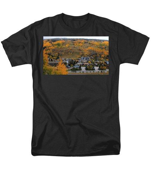 Vail Colorado Men's T-Shirt  (Regular Fit) by Fiona Kennard