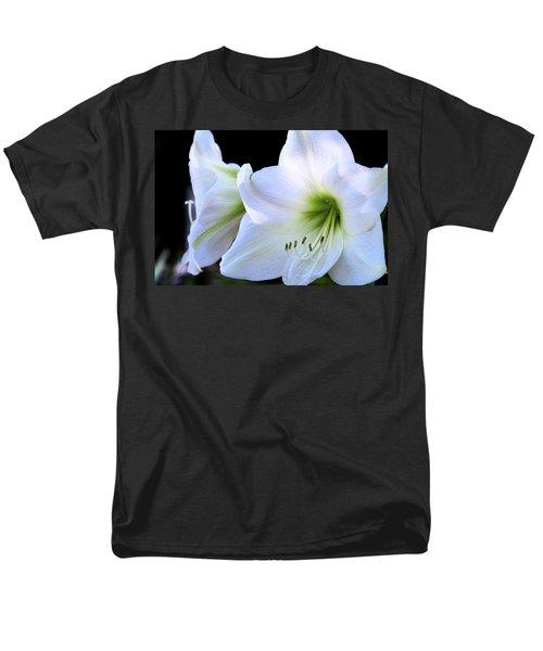 Men's T-Shirt  (Regular Fit) featuring the photograph White Amaryllis  by Saija Lehtonen