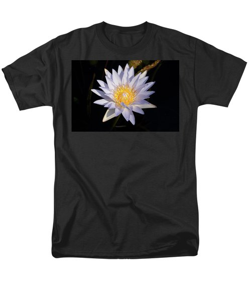 Men's T-Shirt  (Regular Fit) featuring the photograph White Water Lily by Steve Stuller