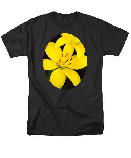 Yellow Lily Flower Men's T-Shirt  (Regular Fit) by Christina Rollo