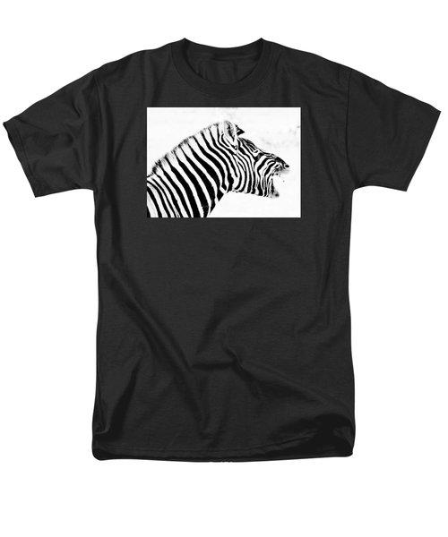Men's T-Shirt  (Regular Fit) featuring the photograph Zebra Art by Werner Lehmann