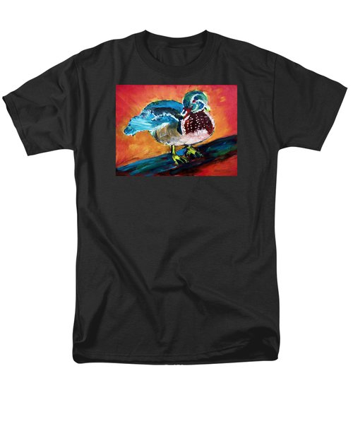 122215 Male Wood Duck Men's T-Shirt  (Regular Fit) by Garland Oldham