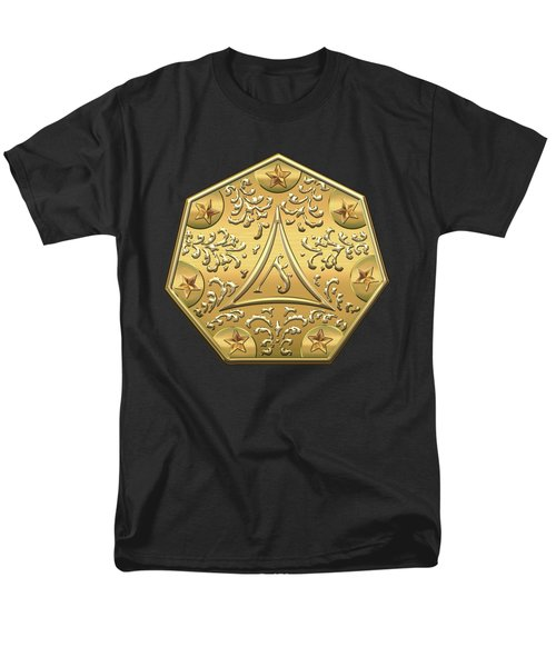 12th Degree Mason - Master Architect Masonic Jewel  Men's T-Shirt  (Regular Fit) by Serge Averbukh