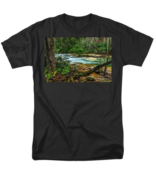 Men's T-Shirt  (Regular Fit) featuring the photograph Back Fork Of Elk River by Thomas R Fletcher