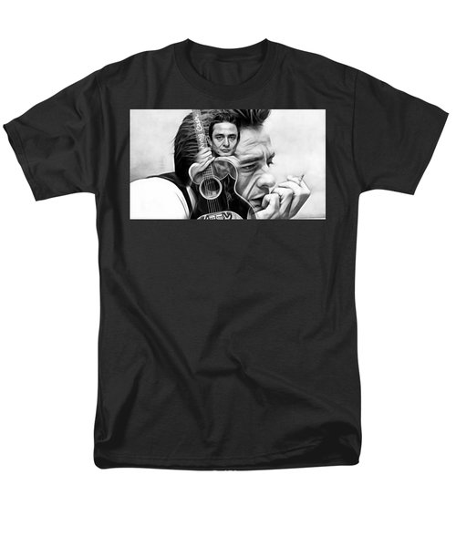 Johnny Cash Collection Men's T-Shirt  (Regular Fit) by Marvin Blaine