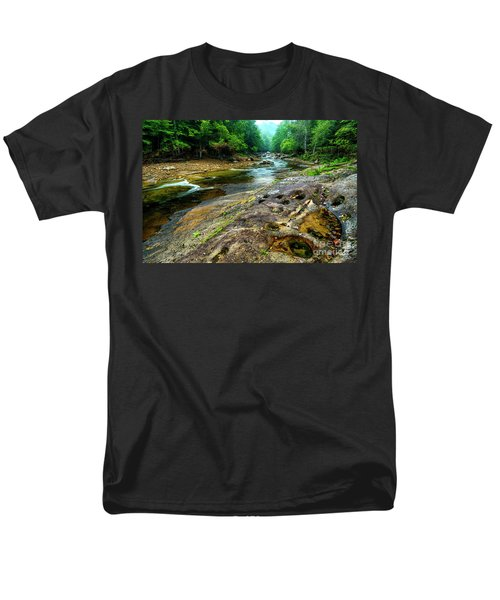 Men's T-Shirt  (Regular Fit) featuring the photograph Williams River Summer by Thomas R Fletcher