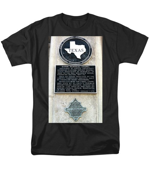 Men's T-Shirt  (Regular Fit) featuring the photograph 1900 Storm Galveston by Wilhelm Hufnagl