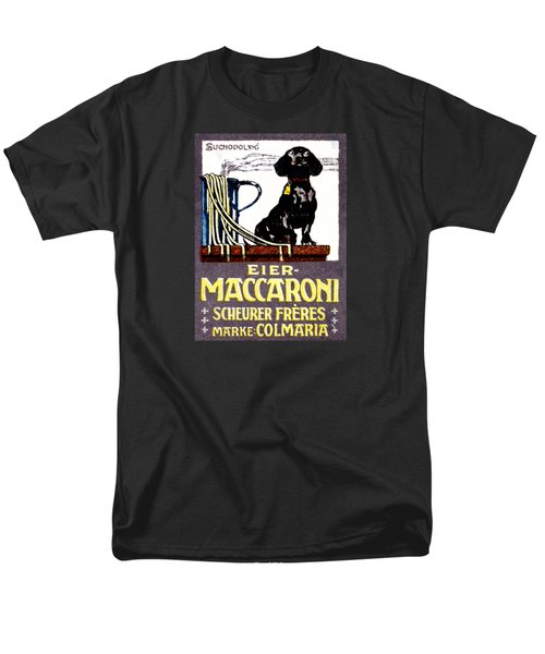 1910 Dachshund And Macaroni Poster    Men's T-Shirt  (Regular Fit) by Historic Image