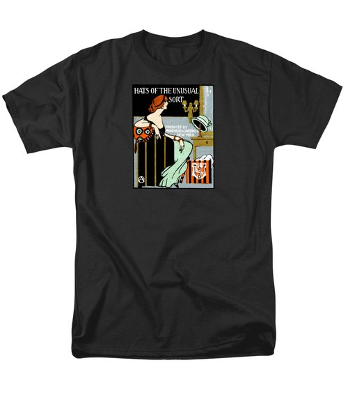1920 Hats Of The Unusual Sort Men's T-Shirt  (Regular Fit) by Historic Image