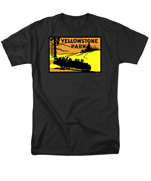 1920 Yellowstone Park Men's T-Shirt  (Regular Fit) by Historic Image