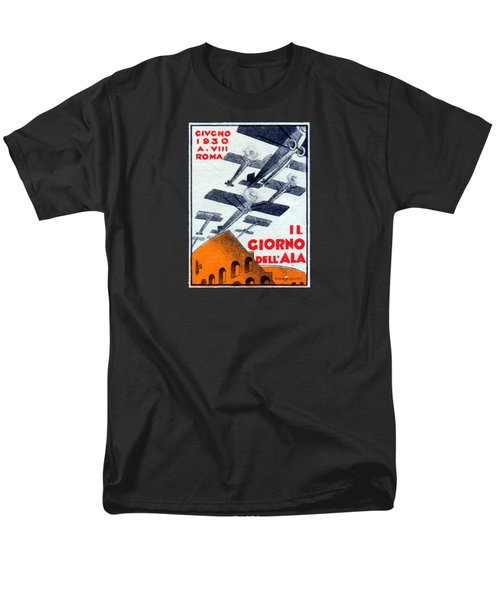 Men's T-Shirt  (Regular Fit) featuring the painting 1930 Italian Air Show by Historic Image