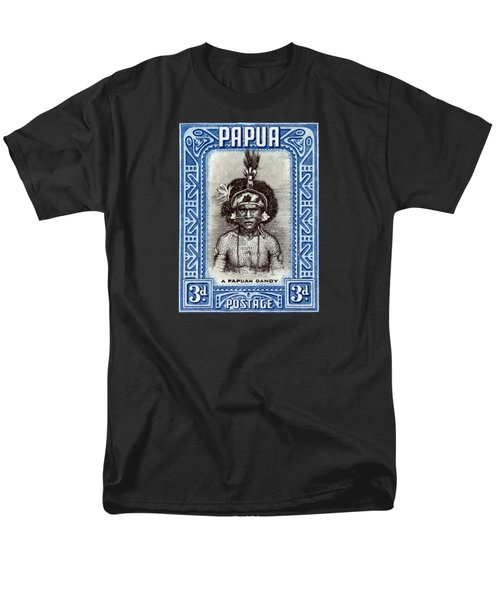 1932 Papuan Dandy Stamp Men's T-Shirt  (Regular Fit) by Historic Image