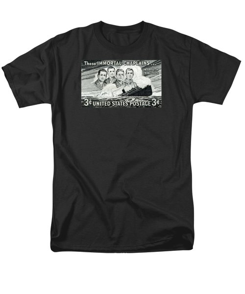 1948 Immortal Chaplains Stamp Men's T-Shirt  (Regular Fit) by Historic Image