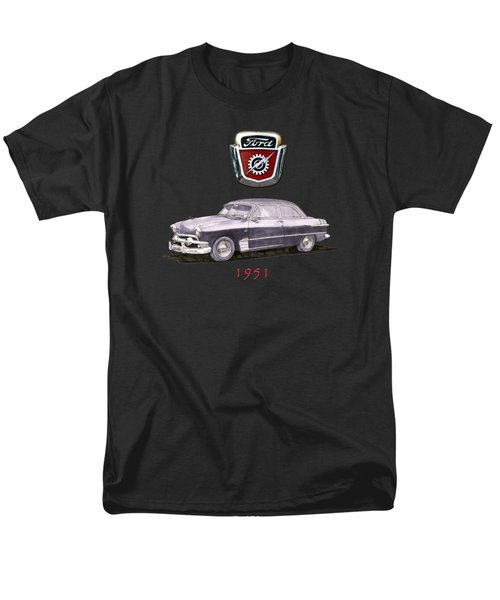 Men's T-Shirt  (Regular Fit) featuring the painting 1951 Ford Two Door Sedan Tee Shirt Art by Jack Pumphrey