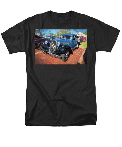 Men's T-Shirt  (Regular Fit) featuring the photograph 1953 Citroen Traction Avant by Rich Franco
