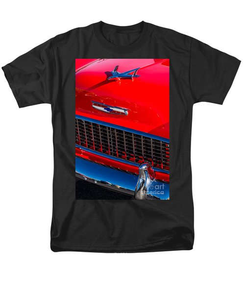 Men's T-Shirt  (Regular Fit) featuring the photograph 1957 Chevy Hood Ornament by Aloha Art