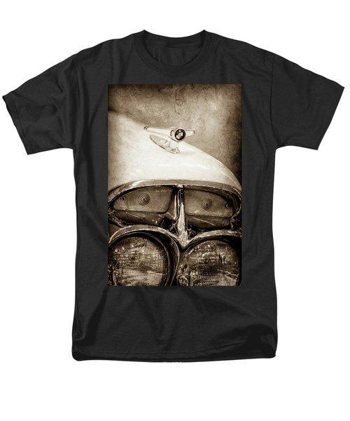 Men's T-Shirt  (Regular Fit) featuring the photograph 1957 Mercury Turnpike Cruiser Emblem -0749s by Jill Reger